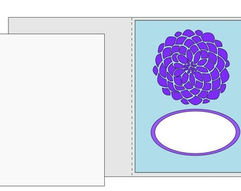 A2 size card SVG Flower