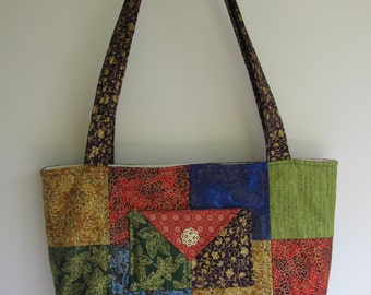 Jewel Tone Tote Bag