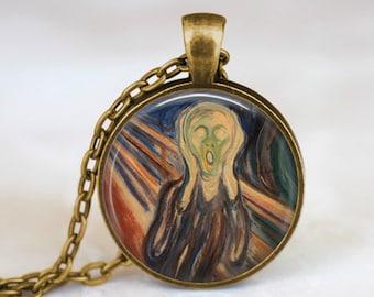 The Scream Munch - Art Handmade Pendant Necklace