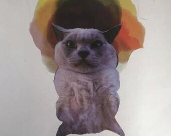 Cat Collage Print
