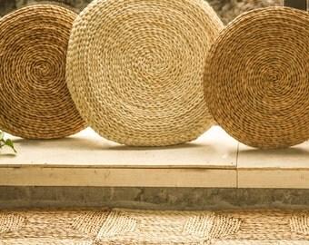 Cuscini da pavimento rustico / pavimento pouf/cuscino/Pouf Pouf/ingrossi bulk/meditazione cuscino/matrimonio regalo/paese arredamento/GrasShanghai