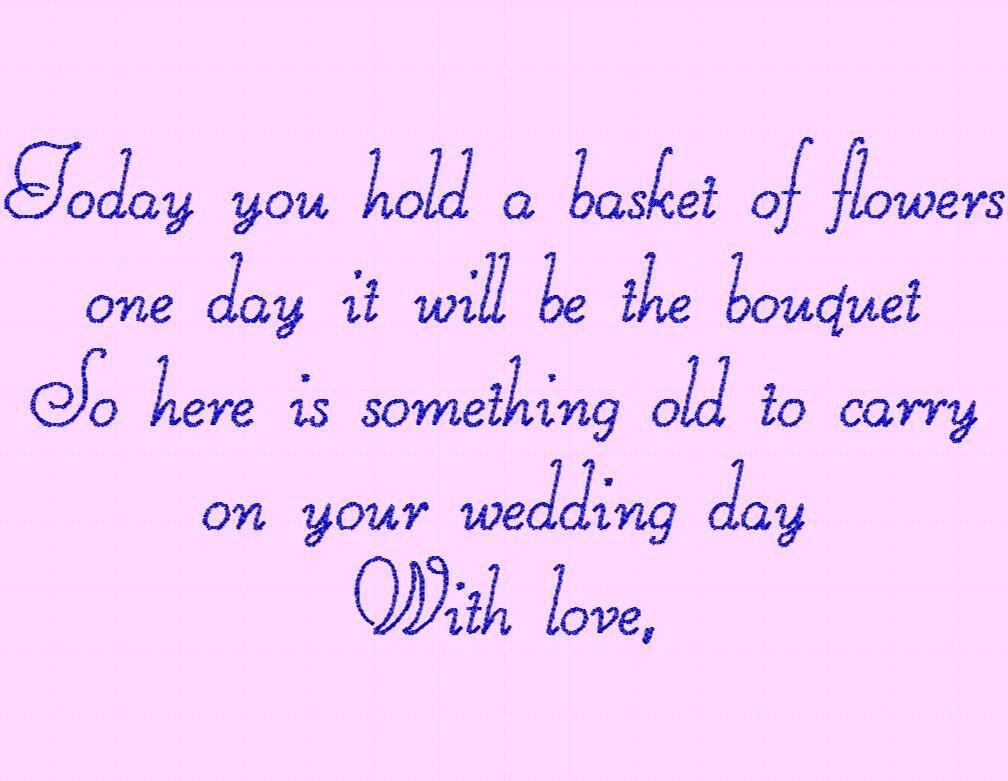 wedding poem flowers