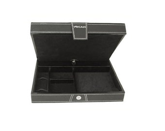 Xikar Cigar Travel Humidors, Black leather