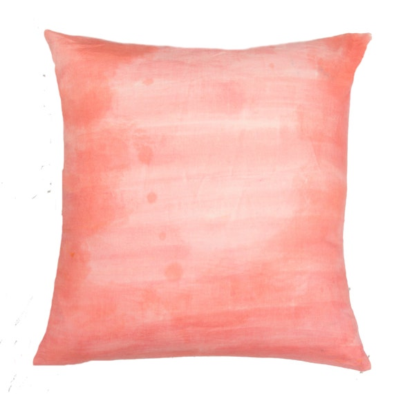 How To Make Throw Pillow Covers By Hand : Hand Painted Throw Pillow Cover by COVEsocal on Etsy