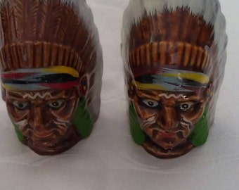 Wales Indian Head Salt & Pepper Shaker Set