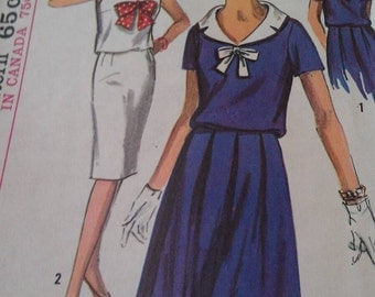Simplicity Pattern No. 5787 Size 14 Miss