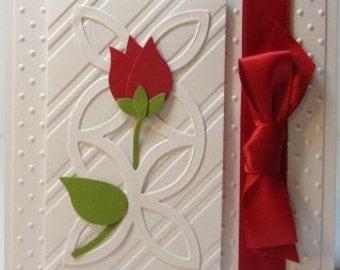 Handmade Rose Card