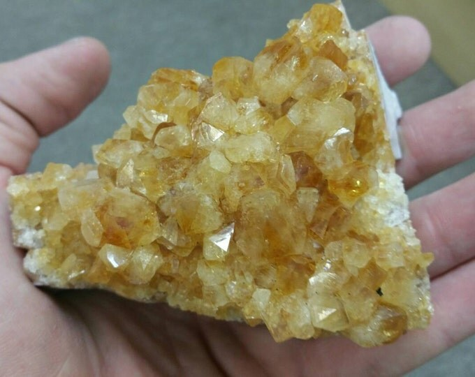 Citrine Crystal Cluster from Brazil- Deep Orange 4 inch cluster Citrine Crystal \ Success Stone \ Healing Stone \ Raw Citrine \ Chakra