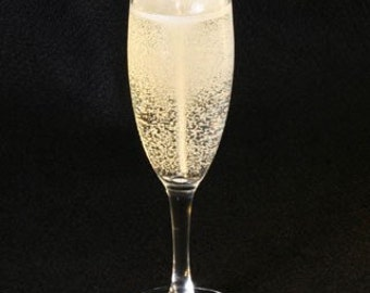 6 ounce Champagne  Glass Candle