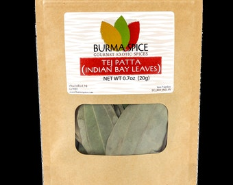 Indian Bay Leaves (Tej Patta) in Bag, 0.7oz.