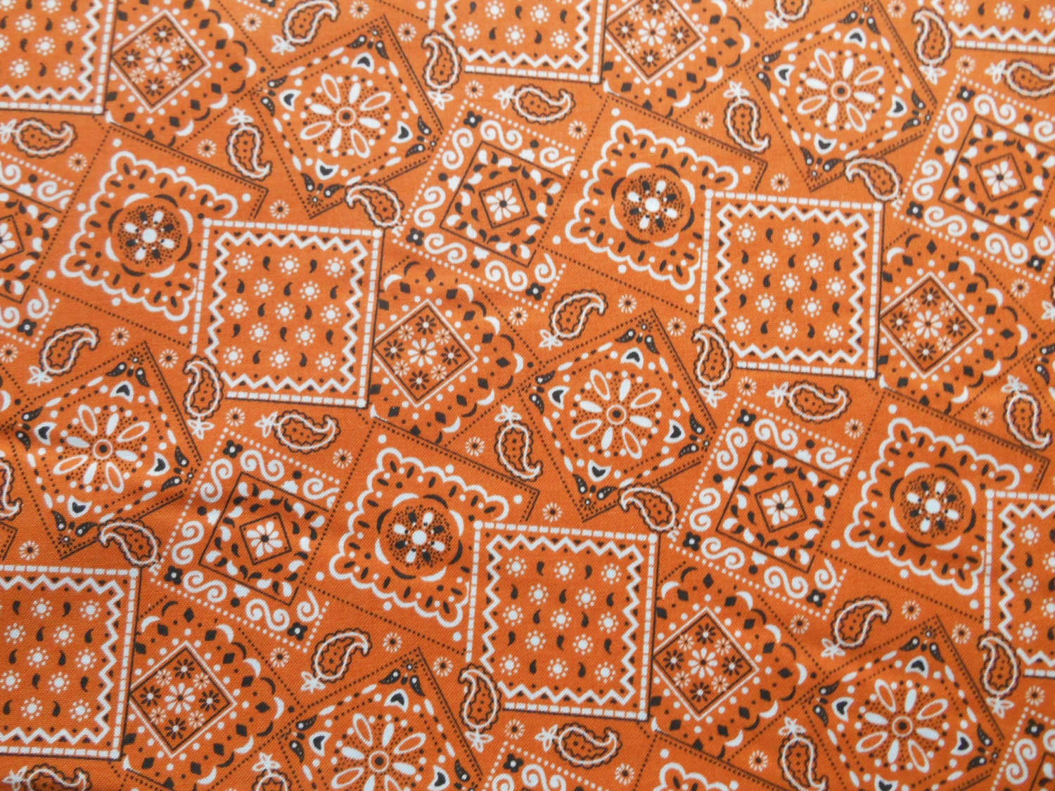 Orange bandana cotton fabric by the yard for Cotton fabric by the yard