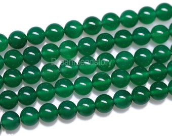Green Agate Stone Beads Round Gemstones 2 4 6 8 10mm 12 14 16mm DIY Beads Supply (B3)