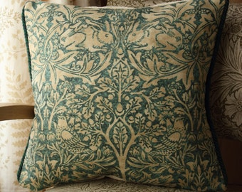 William Morris Brer Rabbit Arts and Crafts Cushion Cover