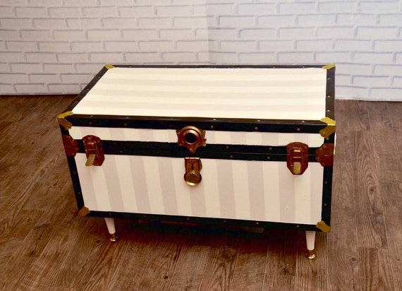 Striped Cedar Trunk Coffee Table