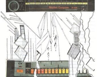 Mixer - giclee print of original collage