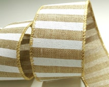 1 1/2 Inch Wire Edged Ribbon, Rustic Ribbon, Floristry Ribbon, Luxury Gift Ribbon, Gift Wrapping, Ribbon for Bows, Crafting Supplies