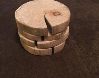 Driftwood Coasters - set of 4 - Plain