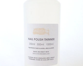 Thinner - restores thickened suspension base and nail polish/ nail lacquer/ nail varnish, perfect for glitter polishes.