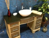 Gomez  Bathroom Vanity, Bathroom Sink, Upcycle, Refurbished, Recycled,  Handmade, Repurposed Desk