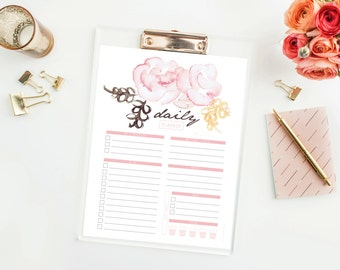 Daily Planner - Daily Agenda - Organizing tool - Digital Download - Printable