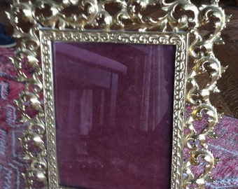 Bronze Dore Baroque Style Standing Picture Frame
