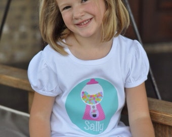 Personalized Custom Monogram Gumball Shirt by Living Water Press