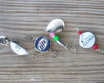 4 Lure Set  - Beer Bottle Fishing Lures with Extras!