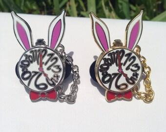 White Rabbit Hat Pin