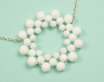 White Snowflake Necklace