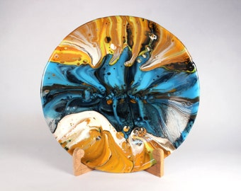 Between two Suns, kilnformed glass bowl