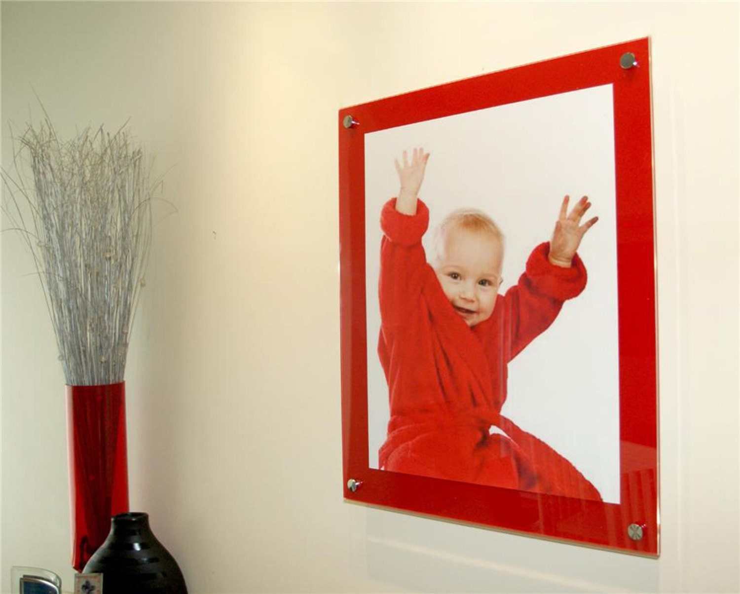 Cheshire acrylic chilli red 10mm picture wall mount frame for 8 x gallery photo gallery photo jeuxipadfo Gallery