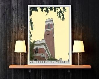 Tennessee Print - Nashville Print - Nashville Tennessee Print - State Print - Vanderbilt University