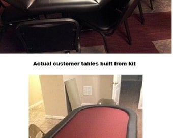 DIY 8' Premium Poker Table Building Kit - 13 Color Choices - Build Your Own Poker Tables