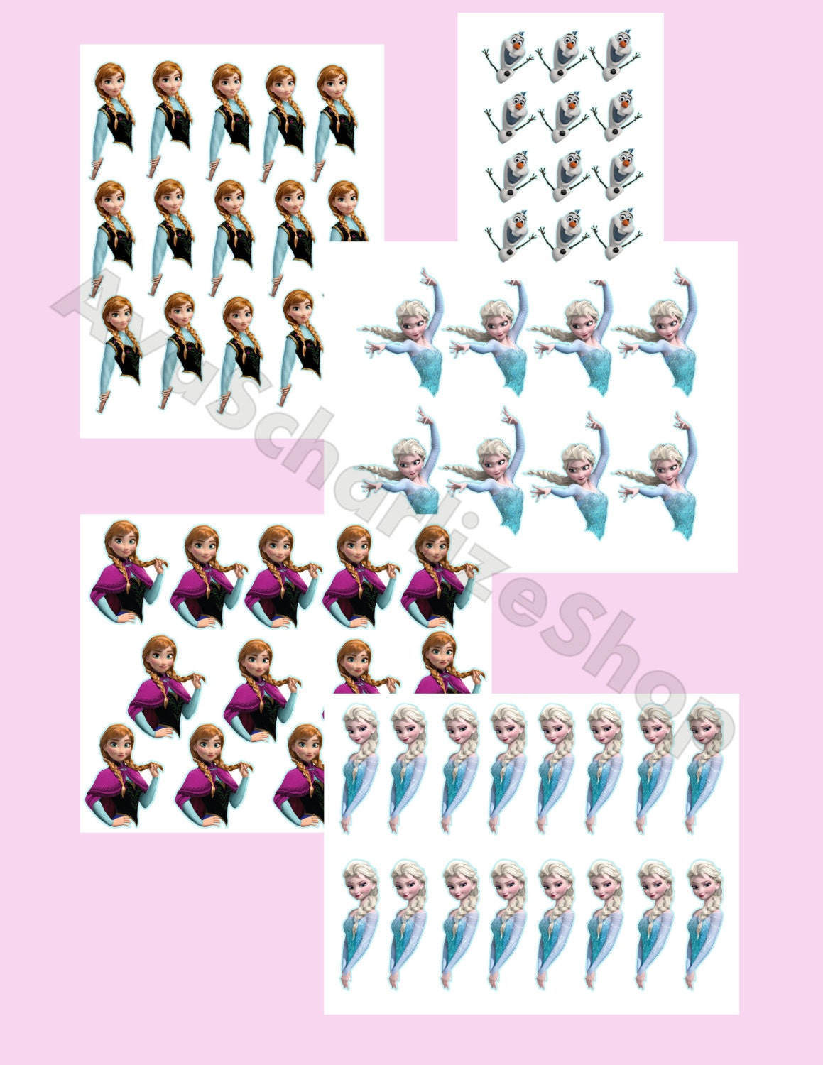 Disney Frozen Cake Pop Toppers Cupcake Toppers INSTANT