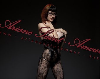 Ariane Saint-Amour Black Fishnet