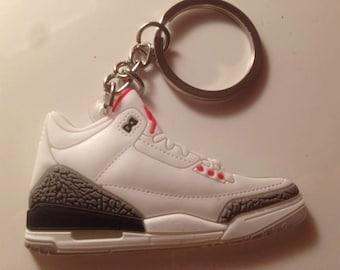 Jordan Keychain 3 III grey cement keychain