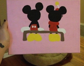 Mickey and Minnie painting