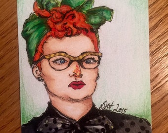 Lucy Ricardo - I Love Lucy Sketch Card