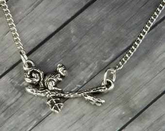 Squirrel Necklace - Squirrel Jewelry - Handmade Animal Jewelry - Charm Necklace - Novelty Gift