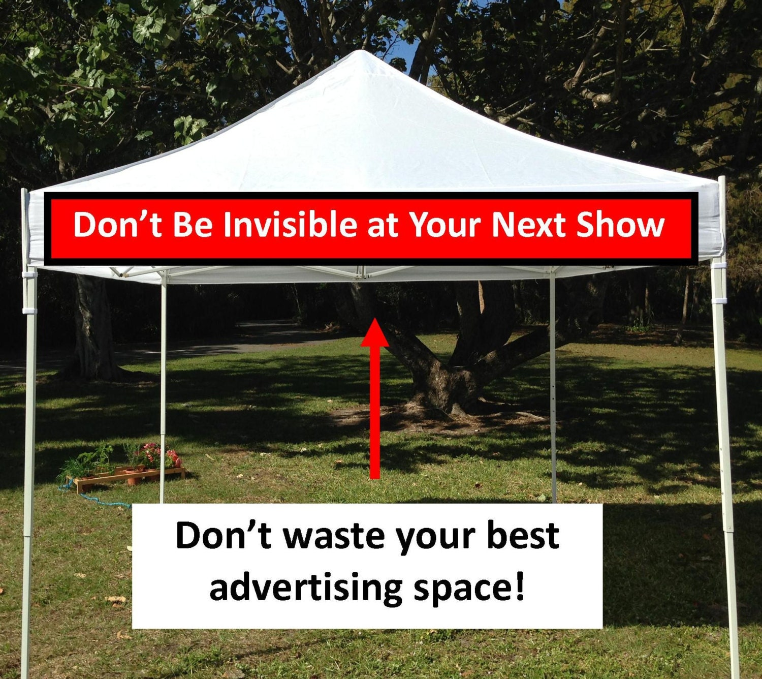 canopy banner kit  9' x 1' hang a banner fast and easily on the