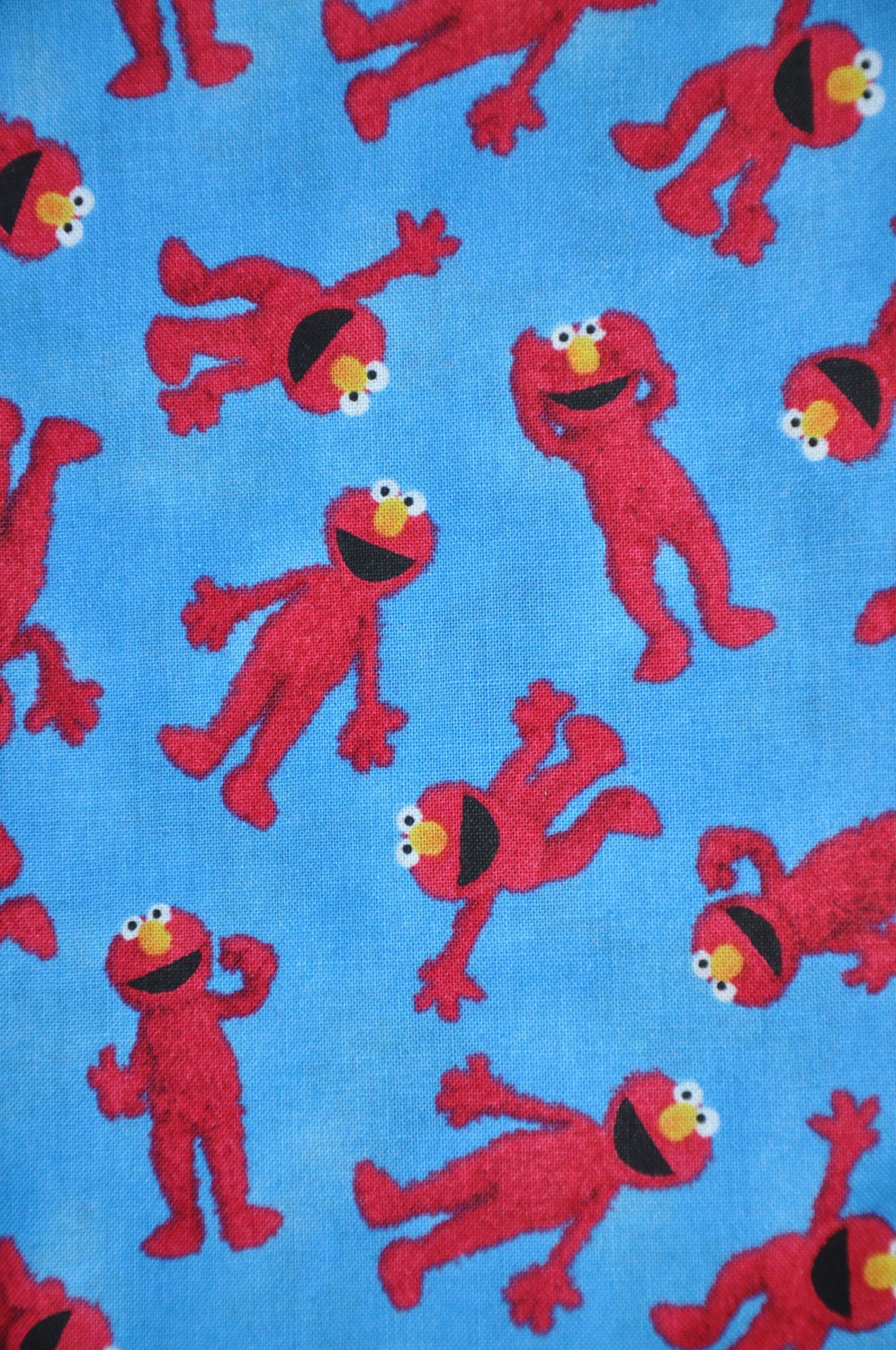 One Yard Of Blue Elmo Fabric 100 Cotton Quilt Fabric By