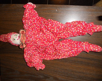 Vintage Handmade clown doll 1950's/60's ?