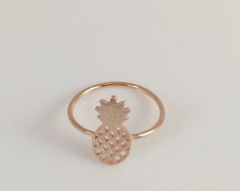Fashion Simple Juicy Pineapple Rose Gold Ring