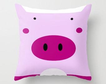 Pig Pillow / / Farm Nursery / Nursery Pillow / Farm Room / Nursery kids / Pig Nursery