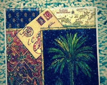 Palm Tree Ceramic Tile Coasters (set of 4)