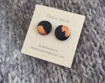 Copper Black Flat Studs