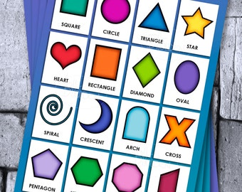 Laminated A4 Children Educational Chart Set of 4
