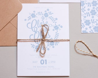 True Blue Wedding Invitation