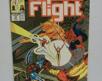 1989 Alpha Flight #75 Oct: All Out War In the Marvel Universe, Spiderman, Iron Man ,Wolverine & Others  VG-Fine  Marvel Comic Book