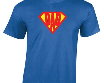 Superdad Classic Superhero T-Shirt. Fathers Day. Birthday T-Shirt. T-Shirt for Dad. Great Gift for all Dads